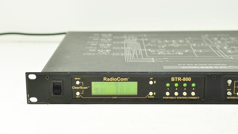 Telex Radiocom Btr 800 Intercom Uhf 2 Ch Wireless Base